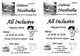All Inclusive All Inclusive
