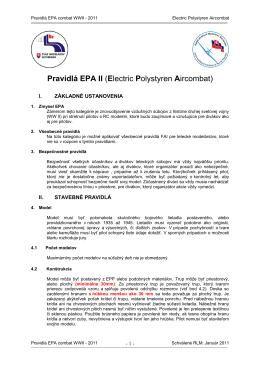 Pravidlá EPA 2011 - Aeromodelling SK