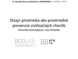 Prezentácia o projekte na konferencii Ergonómia 2014 v