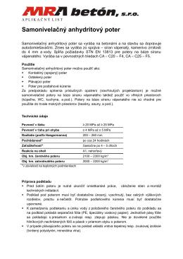 Anhydrit, aplikačný list [PDF]