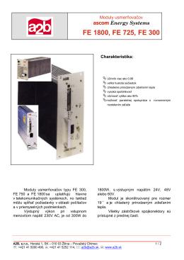 ascom Energy Systems FE 1800, FE 725, FE 300