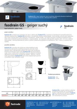 fasdrain GS - FASTRADE sro