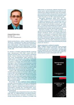 Profil PDF - Katedra slovenskej literatúry