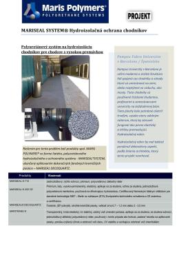MARISEAL SYSTEM® Hydroizolačná ochrana chodníkov
