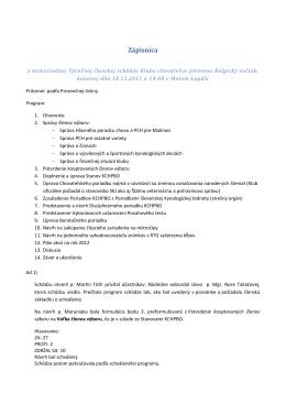 Zápisnica - belgickyovciak.sk