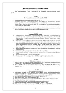 Organizačný a rokovací poriadok SPZ