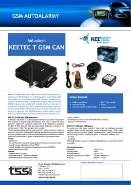 Autoalarm KEETEC T GSM CAN