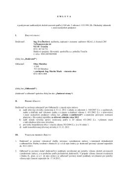 Zmluva audit za rok 2012