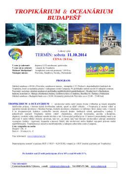 tropikárium & oceanárium budapešť