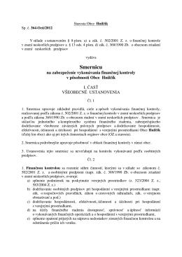 Smernica o vnútornej kontrole