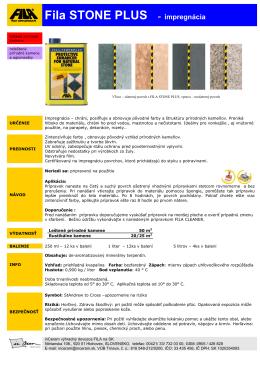 FILA Stone Plus - impregnácia zosilnená ochrana na