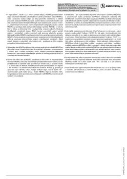 1. V zmysle zákona č. 122/2013 Z.z., o ochrane osobných