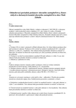 Odmeňovací poriadok poslancov OZ