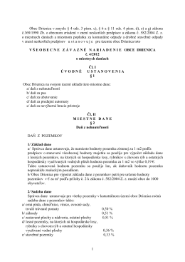 Všeobecne záväzné nariadenie obce Drienica č. 4/2012 o