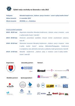 Týždeň vedy a techniky na Slovensku v roku 2012