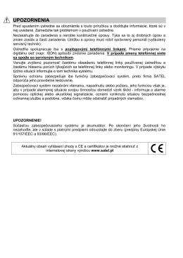Uživateľský manuál VERSA_SK