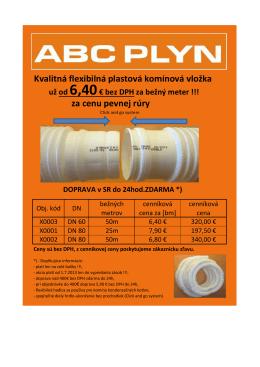 Kvalitná flexibilná plastová komínová vložka za cenu