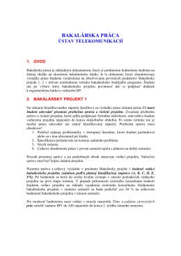 Bakalársky projekt - štatút