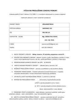 Výzva PC - ZŠ Jarovnice 192