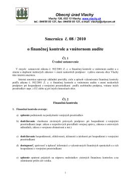 Interná smernica č