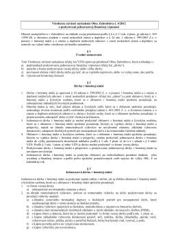 VZN 4/2012 o jednorázovej finančnej výpomoci