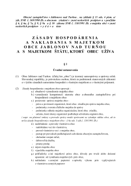 Zásady hospodárenia s majetkom obce 2013