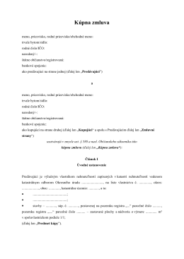 Kúpna zmluva na dom a pozemok (pdf)