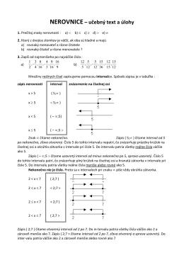 NEROVNICE – učebný text a úlohy