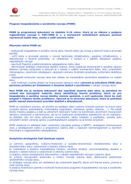 Program hospodárskeho a sociálneho rozvoja ( PHSR )