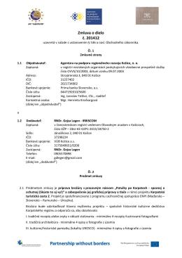 201412 - Agentúra na podporu regionálneho rozvoja Košice, no