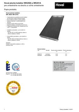 Solarny kolektor WK katalog