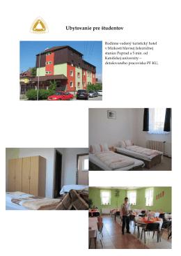 UBYTOVANIE v hoteli Slavia akt. 12.8.2011