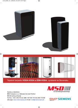 MSD tepelné čerpadlá voda-vodaPDF