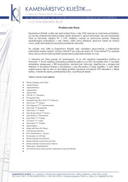 Manuál (pdf) - Kamenárstvo Klieštik