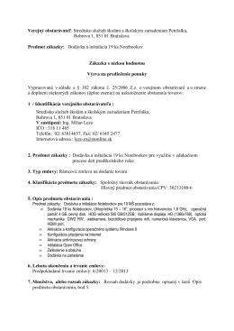 Výzva 19 Notebook - Stredisko služieb školám a školským