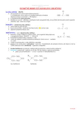 3.7 kyselina uhličitá a jej deriváty