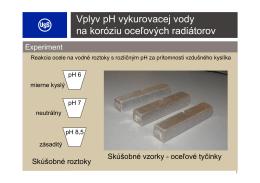 Vplyv pH vykurovacej vody na koróziu oceľových radiátorov