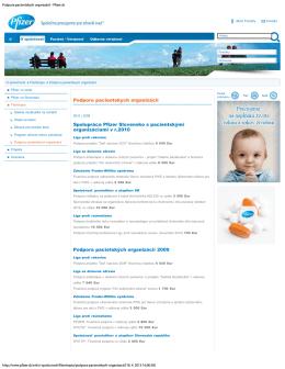 Podpora pacientskych organizácií - Pfizer.sk