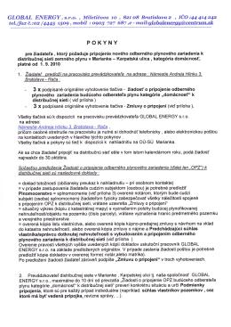 POKYNY - GLOBALENERGY.sk