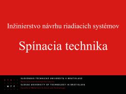 Inžinierstvo návrhu riadiacich systémov