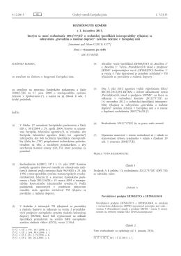 Rozhodnutie Komisie z 2. decembra 2013, ktorým sa mení