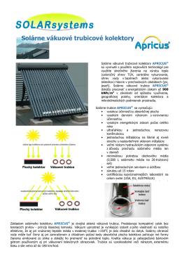 Solárne vákuové trubicové kolektory