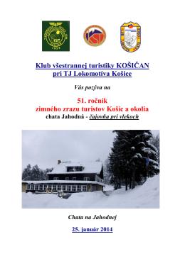 51. Ročník zimného zrazu turistov Košíc a okolia