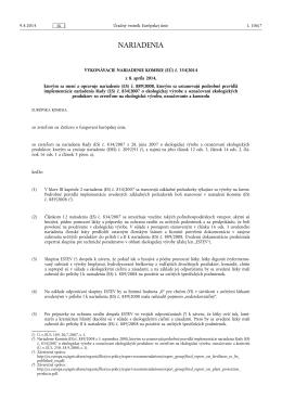 VYKONÁVACIE NARIADENIE KOMISIE (EÚ) č. 354