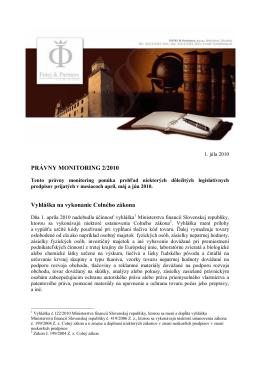Právny monitoring 2-2010 - futej-sk