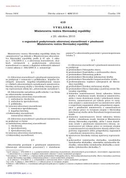 410/2010 Vyhláška Ministerstva vnútra Slovenskej republiky o