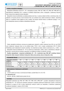 Nástupištný prefabrikát R1-R7