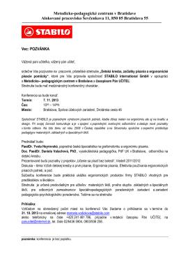 Pozvánka na stiahnutie - Slovenská komora učiteľov