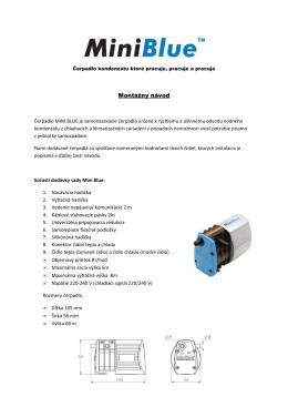 Montážny manuál čerpadiel kondenzátu Mini Blue