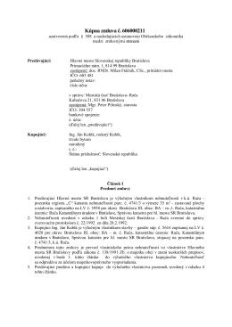 Kúpna zmluva - Kubík 1582011m